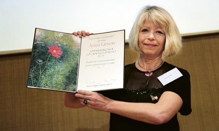 Söderbergska journalistpriset 2009 till Anna Larsson