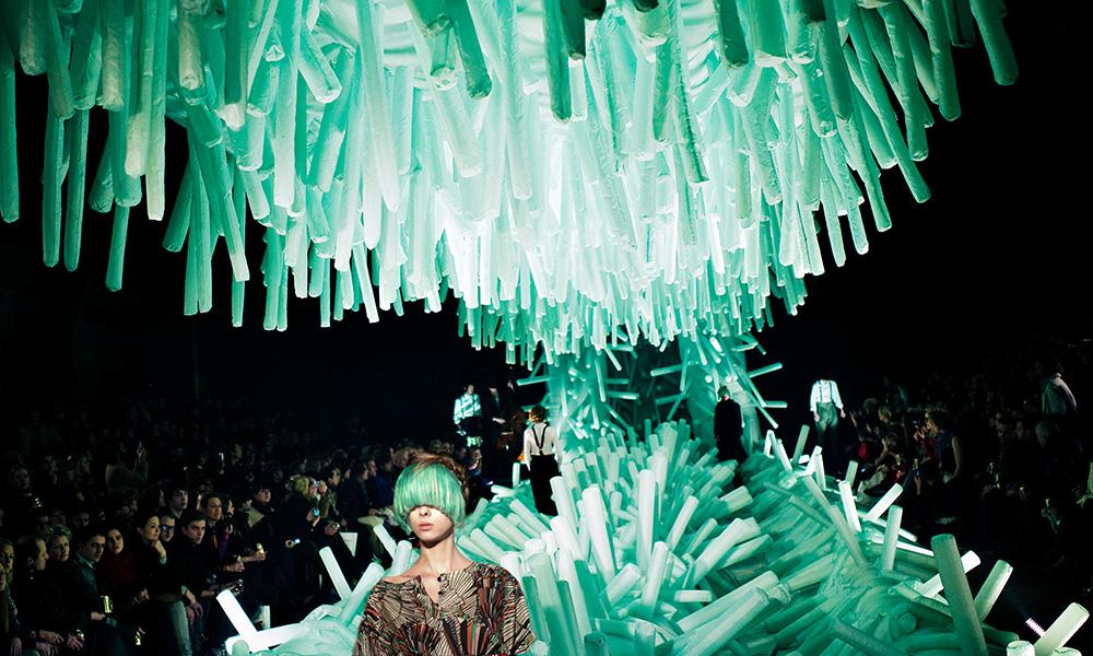Modeshow av Henrik Vibskov. Foto Carsten Snejbjerg, Polfoto.