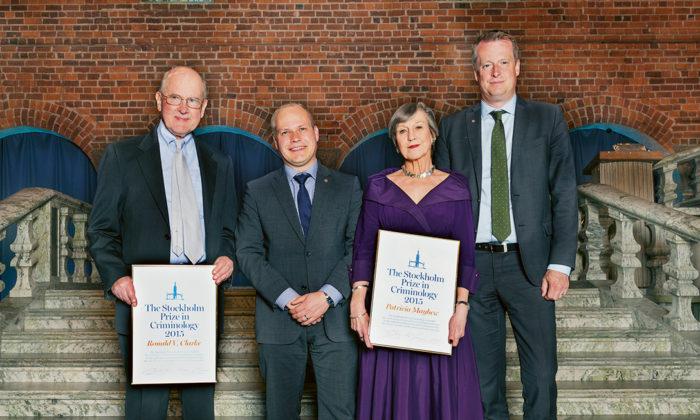 Kriminologerna Ronald V. Clarke och Patricia Mayhew tilldelas Stockholmspriset i kriminologi 2015